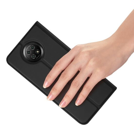 Dux Ducis Skin Pro bőr könyvtok Xiaomi Redmi Note 9T 5G, fekete