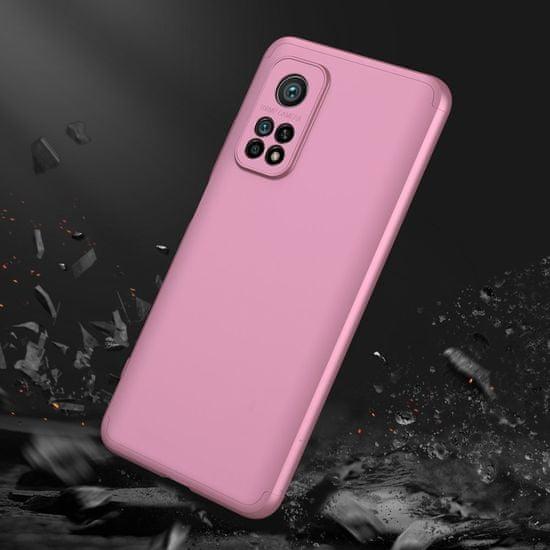 GKK 360 Full Body plastika ovitek za Xiaomi Mi 10T Pro / Mi 10T, roza