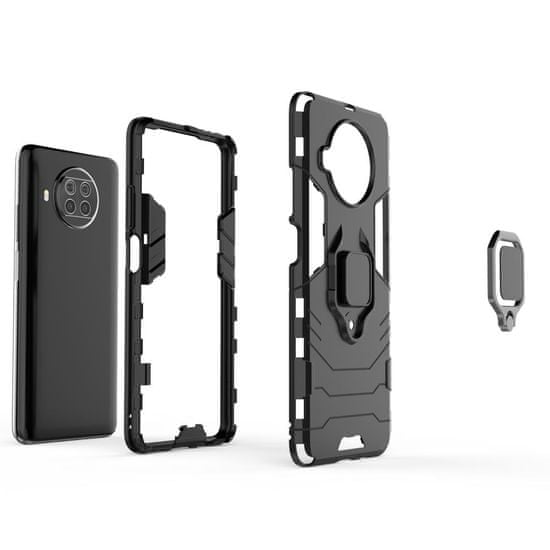 MG Ring Armor plastika ovitek za Xiaomi Mi 10T Lite, črna