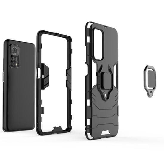 MG Ring Armor plastika ovitek za Xiaomi Mi 10T Pro / Mi 10T, črna