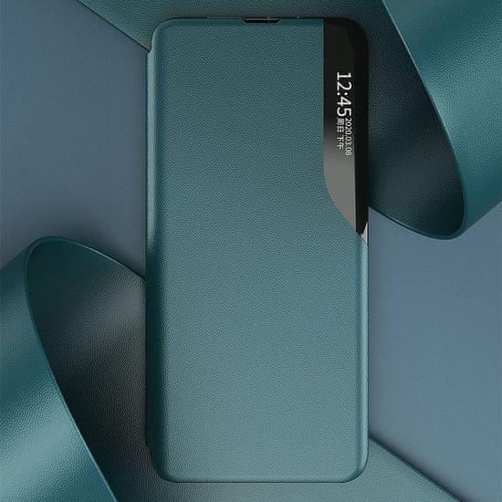 MG Eco Leather View knjižni ovitek za Xiaomi Redmi Note 9T 5G, črna
