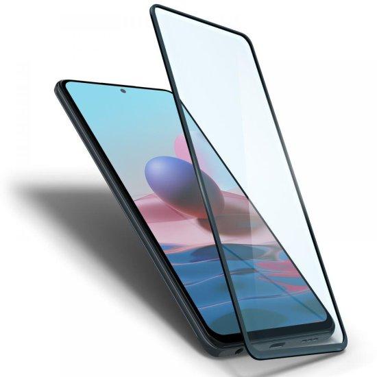 Spigen Full Cover zaščitno steklo za Xiaomi Redmi Note 10 / 10S, črna