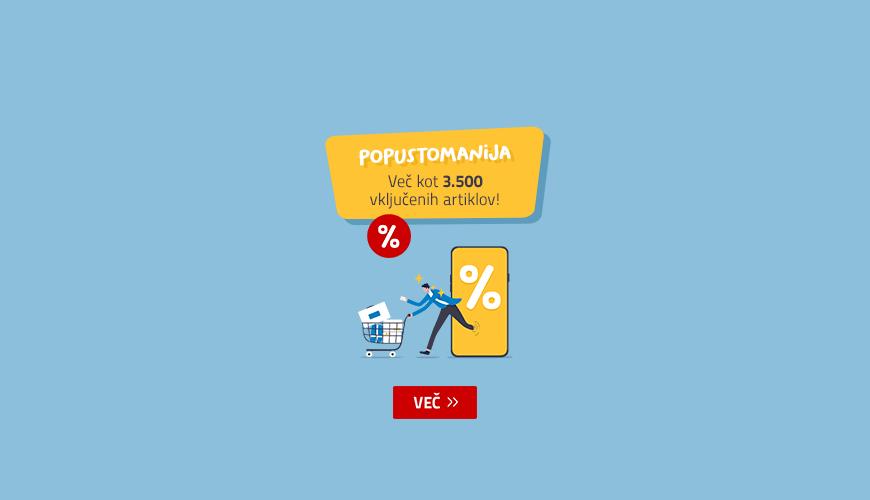 POPUSTOMANIJA - NAJBOLJŠE PONUDBE DANES!