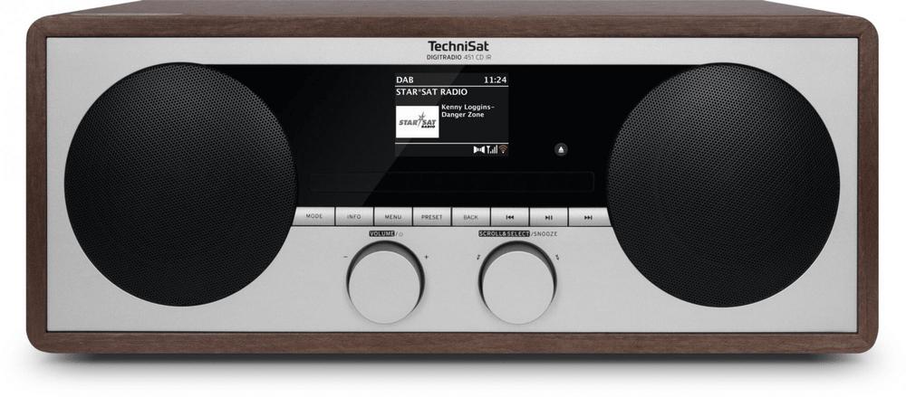 Technisat DIGITRADIO 451 CD IR, stříbrná/dřevo