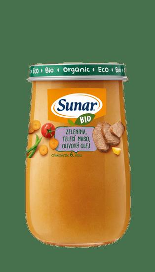 Sunar BIO príkrm zelenina, teľacie mäso, olivový olej 6x 190g