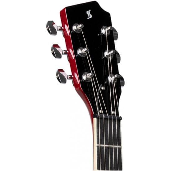 Stagg SVY DC TCH, elektrická gitara, cherry