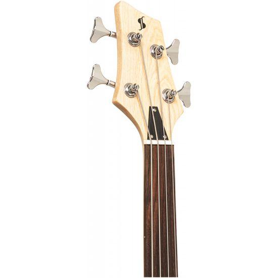 Stagg SBF-40 NAT FL, elektrická baskytara bezpražcová, přírodní