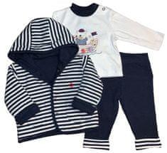 Just Too Cute Chlapecký námořnický set 68 tmavě modrá