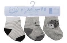 Just Too Cute 3pack chlapeckých ponožek Ježek a proužky 62 vícebarevná