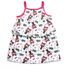 "Eplusm Otroška obleka ""LOL"" - temno roza - 98 / 2–3 leta"