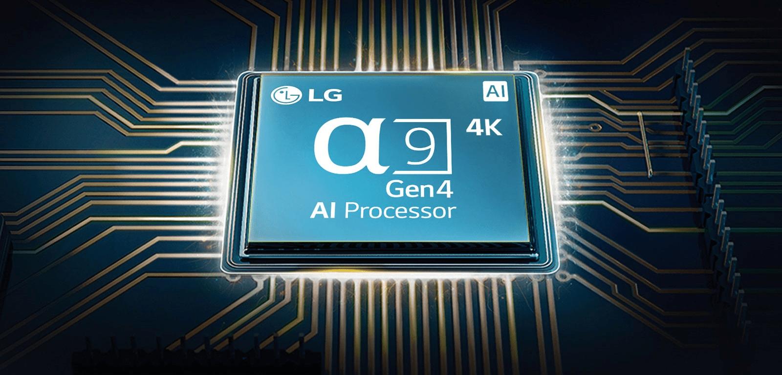 LG TV televize OLED evo 4K 2021 procesor α9 4K Gen4 AI