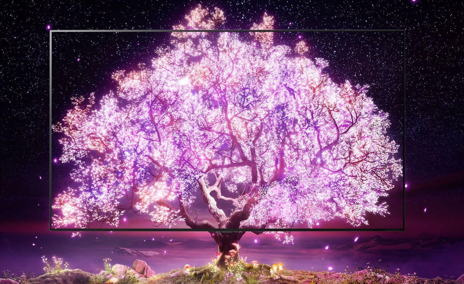 LG TV televize OLED evo 4K 2021 100 milionů samosvítících pixelů nekonečný kontrast 100% objem barev dolby vision iq hdr 10 pro