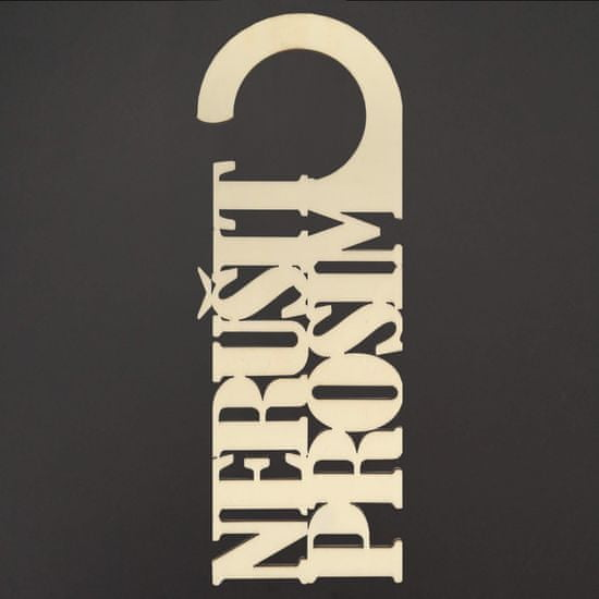AMADEA Cedulka na dveře s textem Nerušit prosím 25 cm, český výrobek