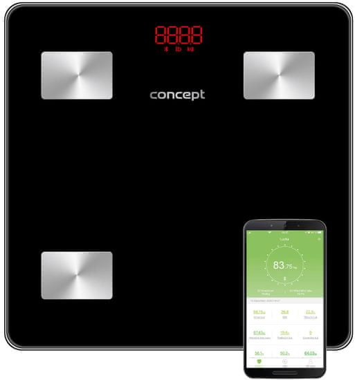 CONCEPT waga diagnostyczna VO4001 180 kg PERFECT HEALTH, czarna