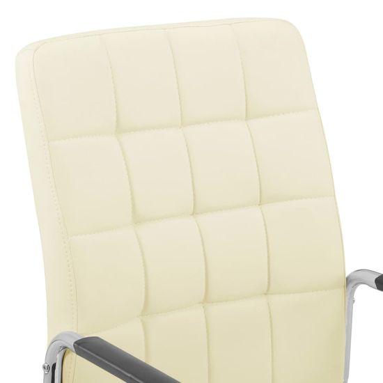 Greatstore Otočná kancelárska stolička krémová látková
