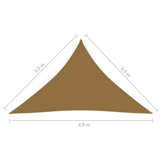 shumee Sun Sail 160 g / m² Taupe 3,5x3,5x4,9 m HDPE
