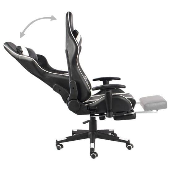 shumee fehér PVC forgó gamer szék lábtartóval