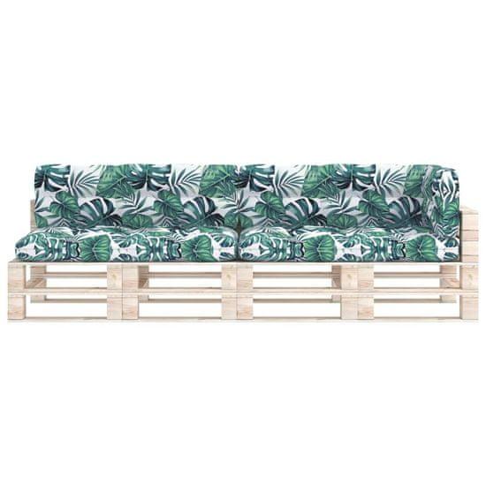 shumee Poduszki na sofę z palet, 5 szt., wzór w liście