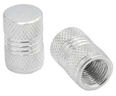 M-Style CNC čepičky ventilků stříbrná