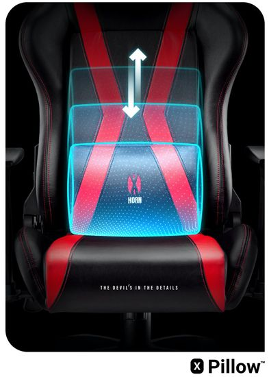 Diablo Chairs X-Horn 2.0, XL, černá/červená (5902560336887)