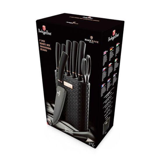 Berlingerhaus Sada nožů ve stojanu Black Rose Collection 7 ks