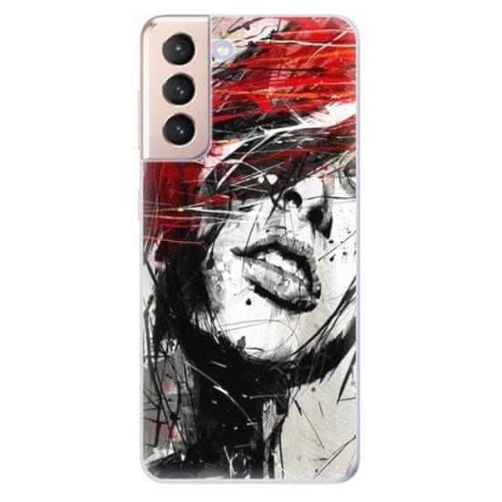iSaprio Silikonowe etui - Sketch Face na Samsung Galaxy S21