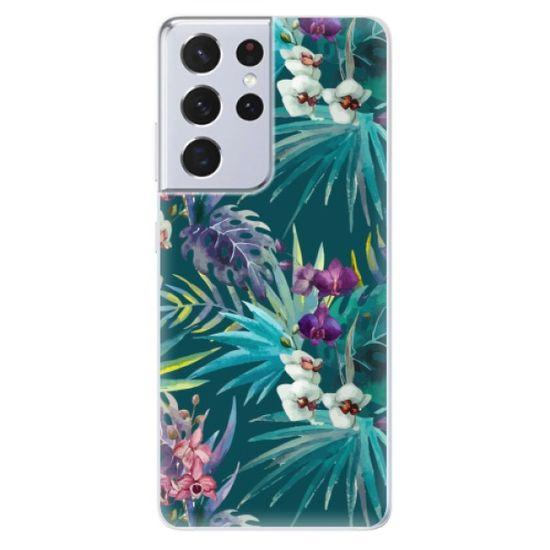 iSaprio Tropical Blue 01 szilikon tok Samsung Galaxy S21 Ultra