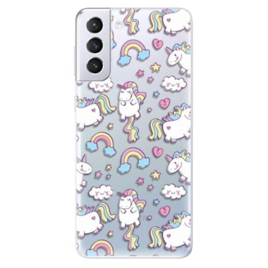 iSaprio Silikonowe etui - Unicorn pattern 02 na Samsung Galaxy S21+