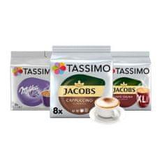 Jacobs kawa Tassimo PACK MALL -1x Cafe Crema XL, 1x Milka, 1x Cappucino