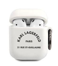 Karl Lagerfeld Rue St Guillaume Pouzdro pro Airpods 1/2 White KLACA2SILRSGWH