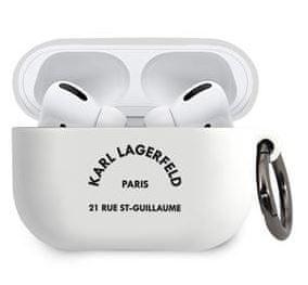 Karl Lagerfeld Rue St Guillaume Pouzdro pro Airpods Pro White KLACAPSILRSGWH