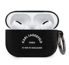 Karl Lagerfeld Rue St Guillaume Pouzdro pro Airpods Pro Black KLACAPSILRSGBK