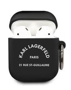 Karl Lagerfeld Rue St Guillaume Pouzdro pro Airpods 1/2 Black KLACA2SILRSGBK