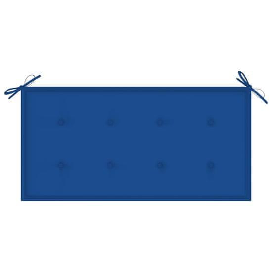shumee Poduszka na ławkę ogrodową, kobaltowa, 100x50x4, tkanina