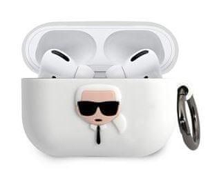 Karl Lagerfeld Karl Head Pouzdro pro Airpods Pro White KLACAPSILGLWH