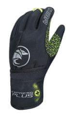 Zimné cyklistické rukavice pro dospělé Express+ černé/neónové