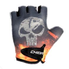 Cyklistické rukavice pro děti Cool Kids Lebka