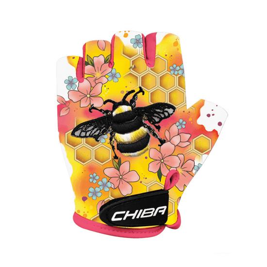 CHIBA Cyklistické rukavice pro děti COOL KIDS Včela