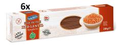 SamMills Strukovinové cestoviny z červenej šošovice špagety (SPAGHETTI) 250 g, 6ks