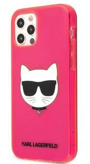 Karl Lagerfeld maskica TPU Choupette Head Kryt za iPhone 12/12 Pro 6.1 Fluo Pink KLHCP12MCHTRP