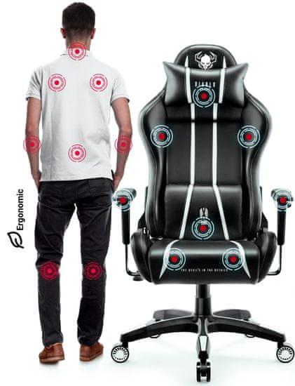 Diablo Chairs X-One 2.0, černá/bílá (5902560337884)