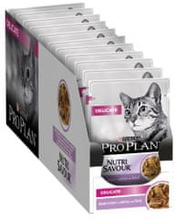 Purina Pro Plan Cat DELICATE s krůtou ve šťávě 26 x 85 g