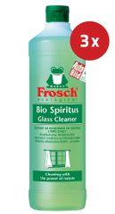 Frosch Spiritus Glass čistilo, 1 l, 3 kosi