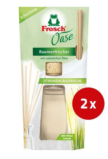 Frosch Oase osvježivač zraka, limunska trava, 90 ml, 2 kom