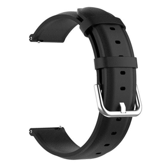 BStrap Samsung Galaxy Watch 3 45mm Leather Lux remienok, black