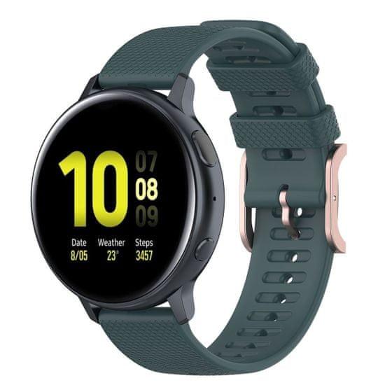 BStrap Samsung Galaxy Watch 3 45mm Silicone Rain remienok, dark green