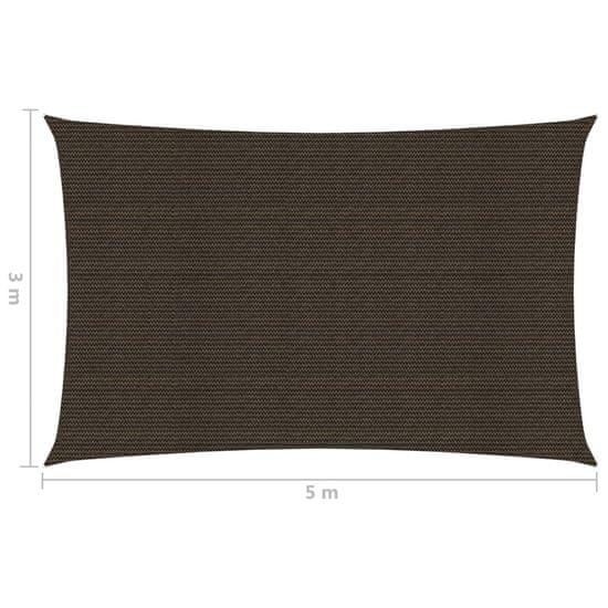 shumee Sun Sail 160 g / m² rjava 3x5 m HDPE