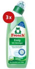 Frosch čistilo za wc školjko, kis, 3 x 750 ml