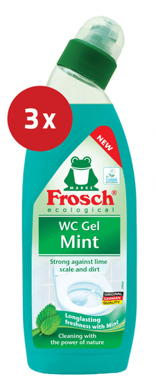 Frosch čistilo za wc školjko, meta, 3 x 750 ml