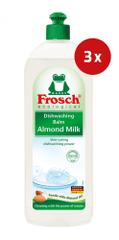 Frosch gel za pomivanje posode, mandelj, 3 x 750 ml